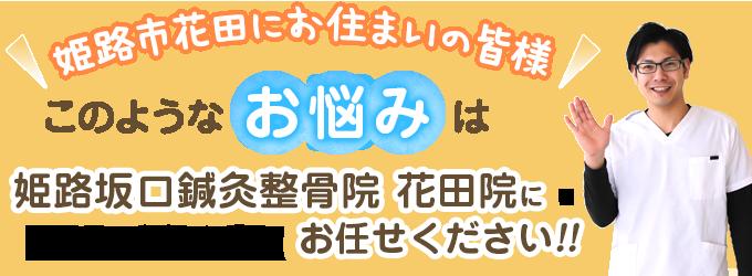 姫路坂口鍼灸整骨院・整体院 花田院 トップページキャッチ